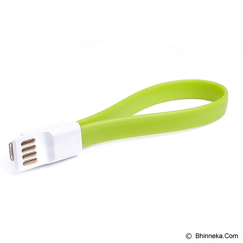 LETOUCH Vogue S Micro S-Colorful Micro USB Flat Cable with Magnet 22CM [USB-LETOUCH-VOGUE-S-OR] - Orange - Cable / Connector Usb